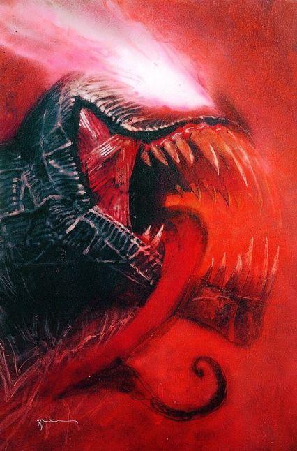 Venom Vol 4 Annual #1 Cover B Variant Bill Sienkiewicz Cover