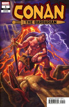 Conan The Barbarian Vol 4 #1 Cover N Incentive Greg Hildebrandt Variant Cover