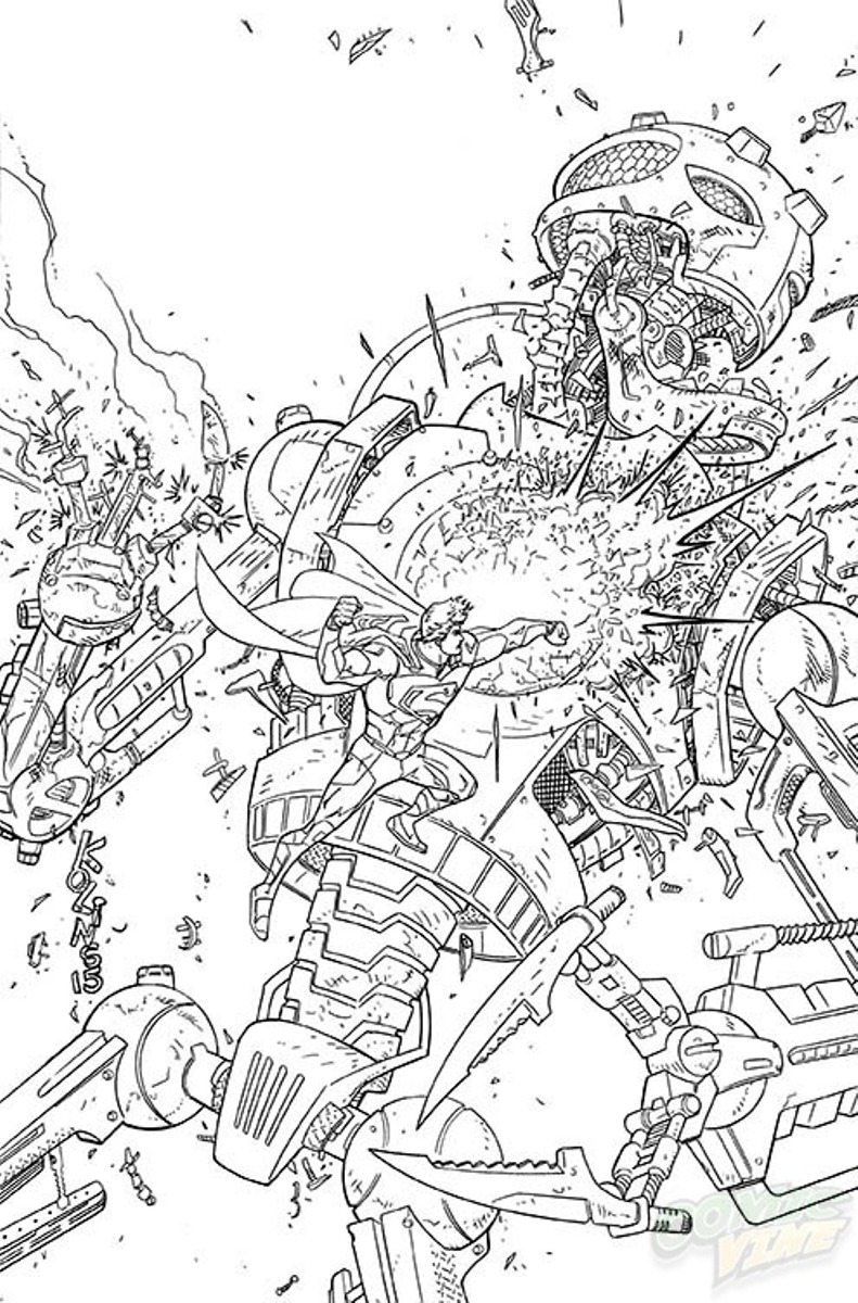 DC Comics January 2015 Coloring Book Variants Complete