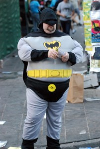 Batman cosplay on the street