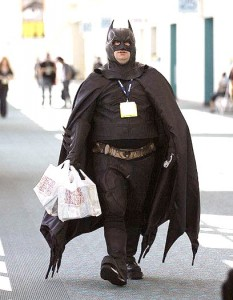 Batman cosplay at SDCC