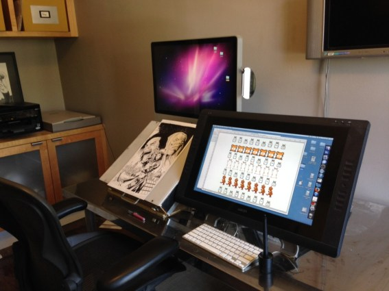 Sean Chen Comic Art Workstation