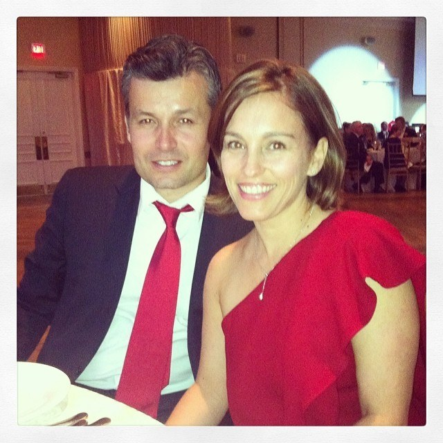 5. Amy Jo Johnson With Husband Olivier Giner – The Pink Ranger