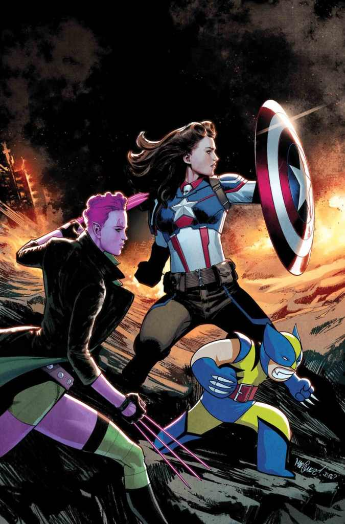 New Captain America  in Exiles # 3 Cover