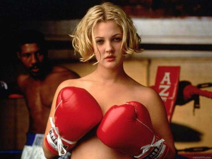 Drew Barrymore sexy topless