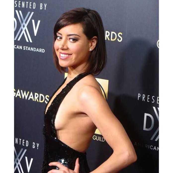 Aubrey Plaza sexy side boobs pic