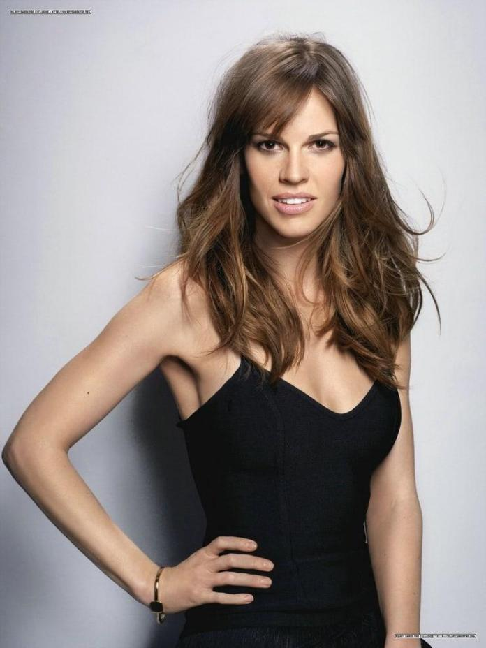 Hillary Swank hot look