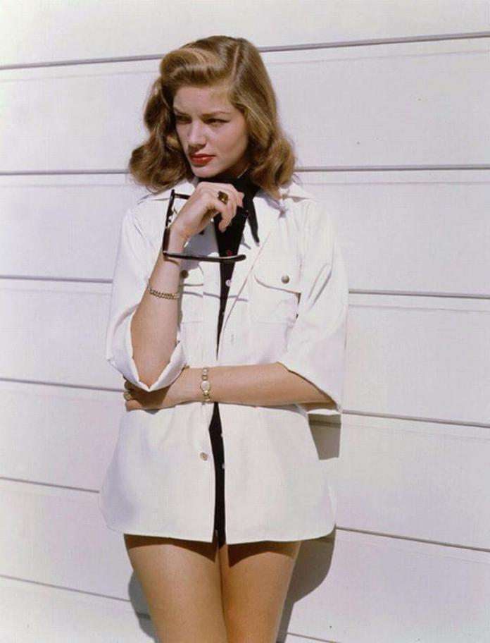 Lauren Bacall sexy look