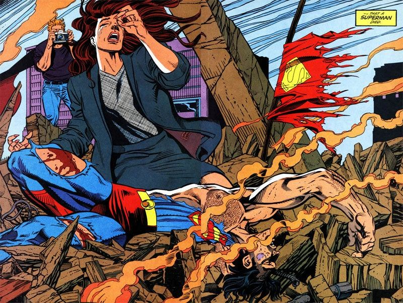 Lois Lane and Superman When He Died