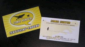 CARTE CADEAU Comic Hunter