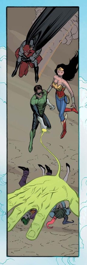 flash carrying batman