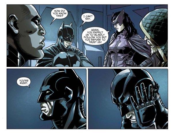 Batman reveals his identity to his team 2