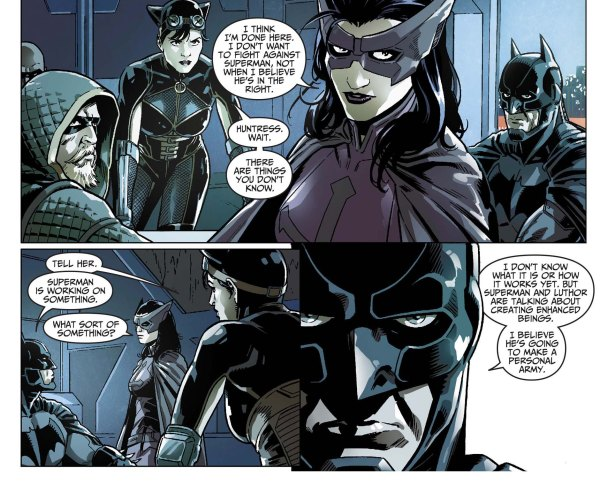 Batman reveals his identity to his team