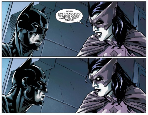 Huntress Slips Batman's Name