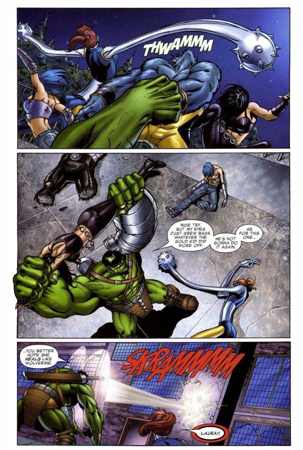 x-23 vs the hulk 3