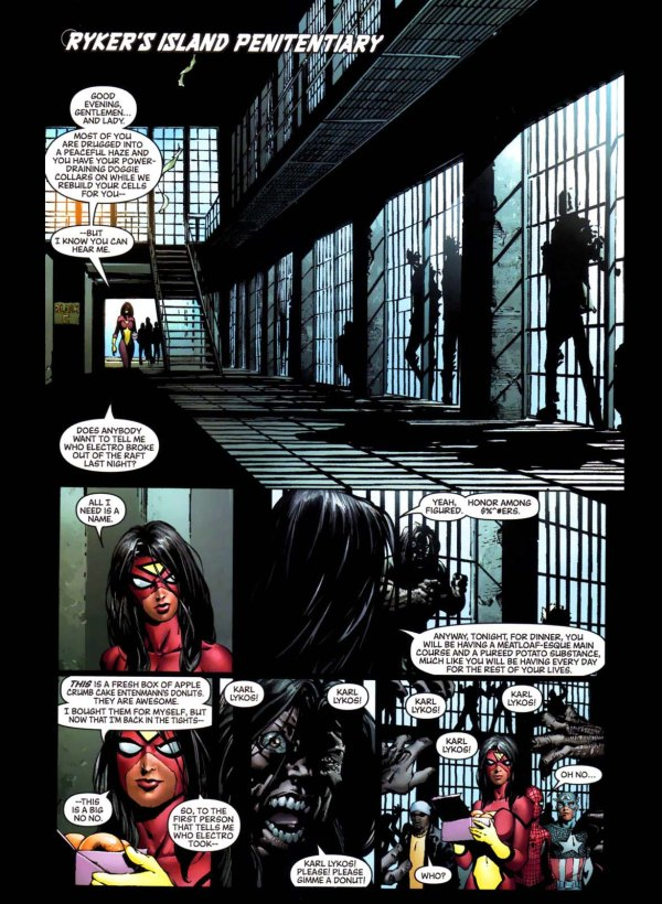 spider-woman's interrogation technique