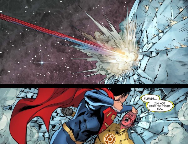 superman attacks sinestro 3