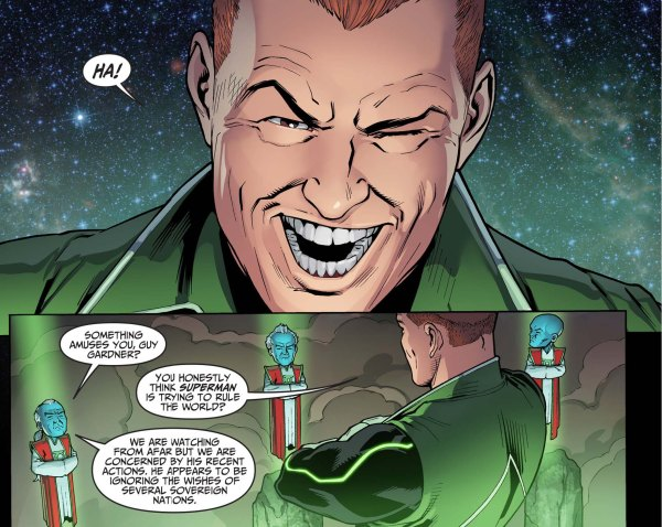 what guy gardner thinks of superman
