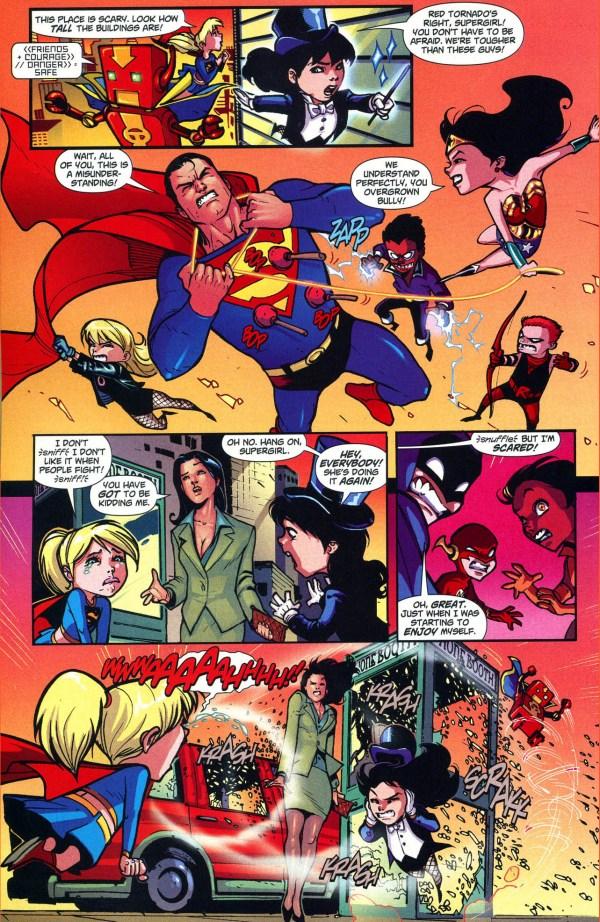 superman and batman vs mini justice league 3