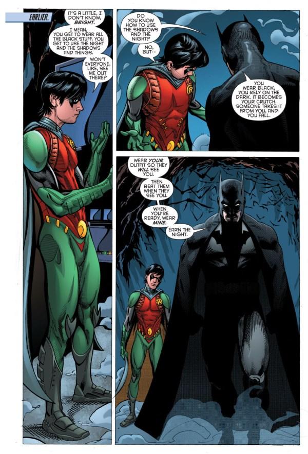 batman's explanation for robin's costume