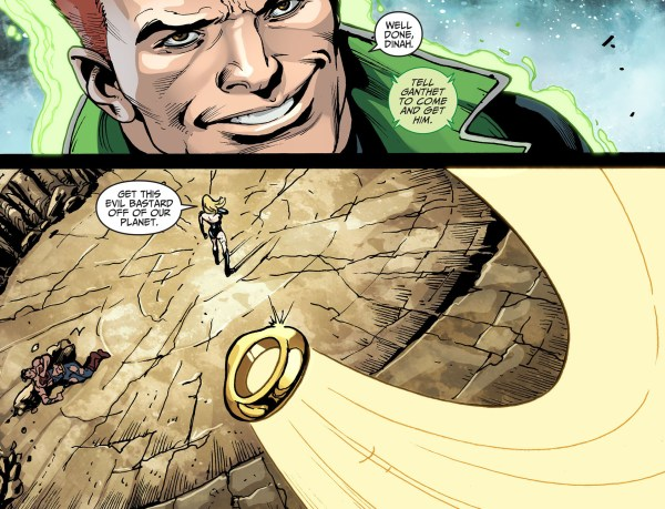 superman with a sinestro corps ring 1