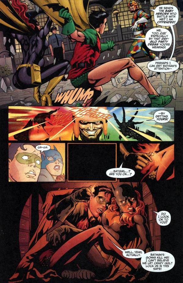 robin and batgirl vs crazy quilt 2