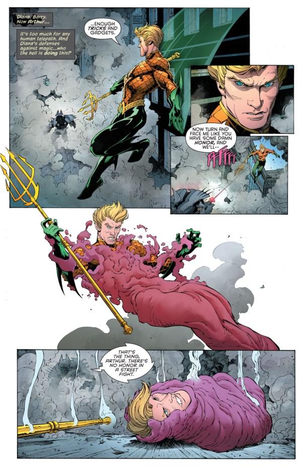 Batman's Justice Buster Suit VS Aquaman