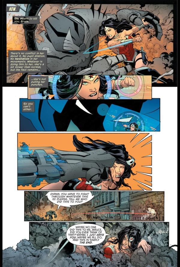 Batman's Justice Buster Suit VS Wonder Woman