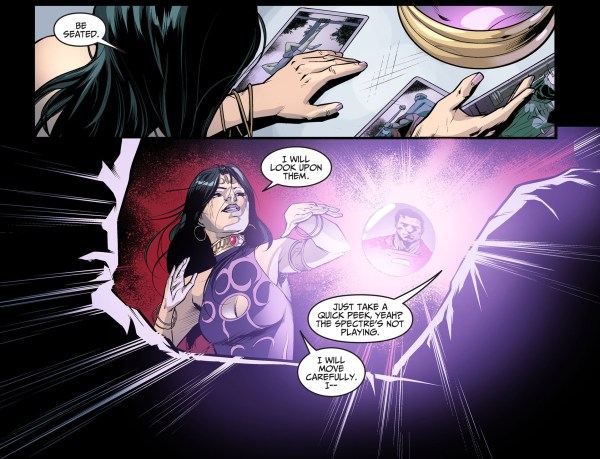madame xanadu looks for information against superman