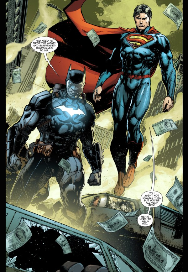 Superman And Batman VS Amazo Virus Infected Civilians