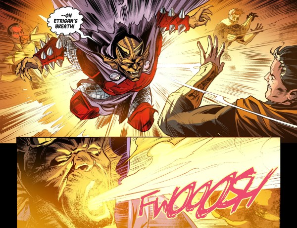 etrigan attacks superman