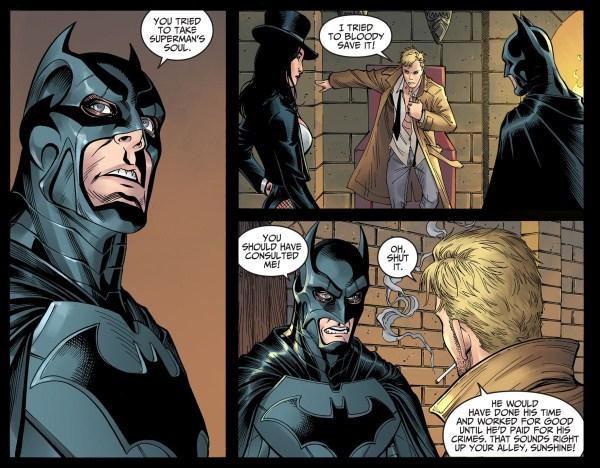 zatanna makes batman and constantine shut up