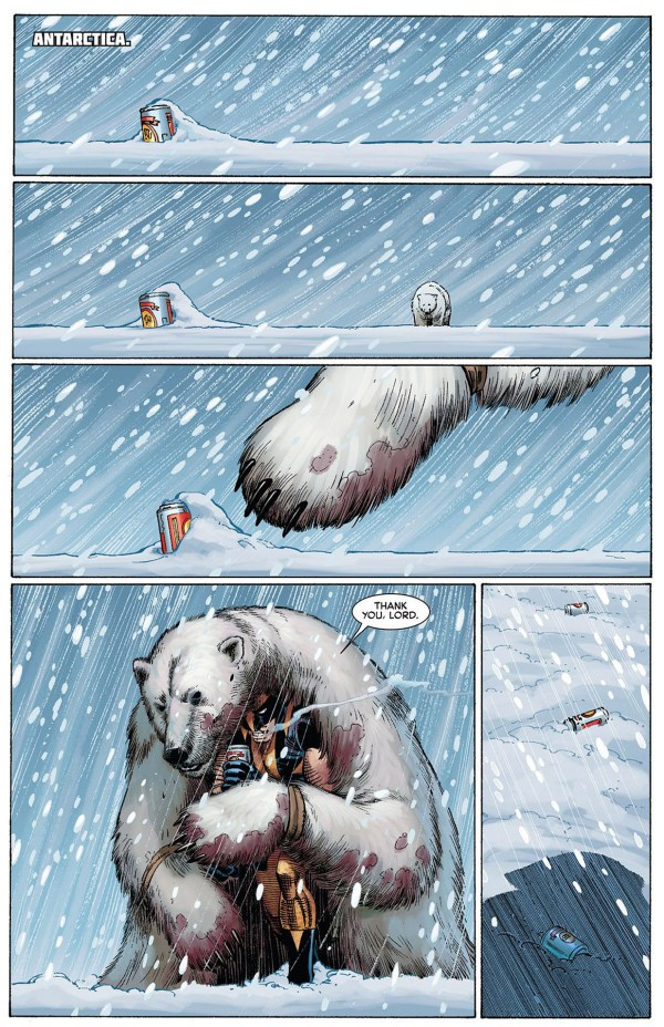 how wolverine survived antartica