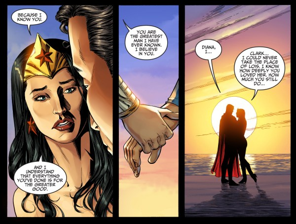 wonder woman's promise to superman
