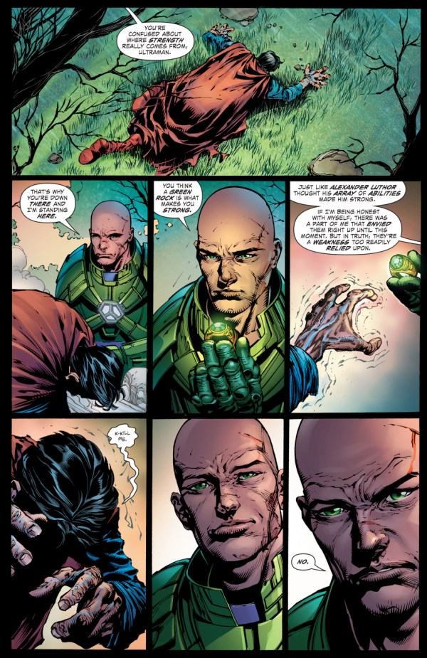 how lex luthor defeated ultraman