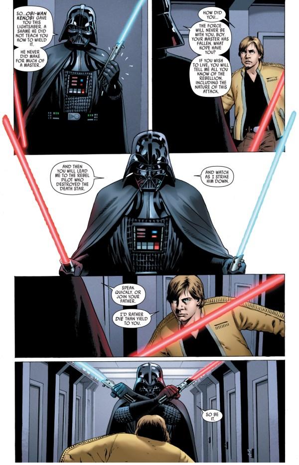 darth vader recognizes his old lightsaber