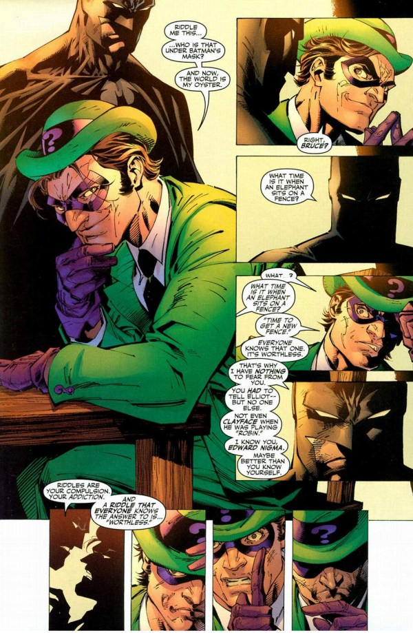 riddler figures out batman's identity