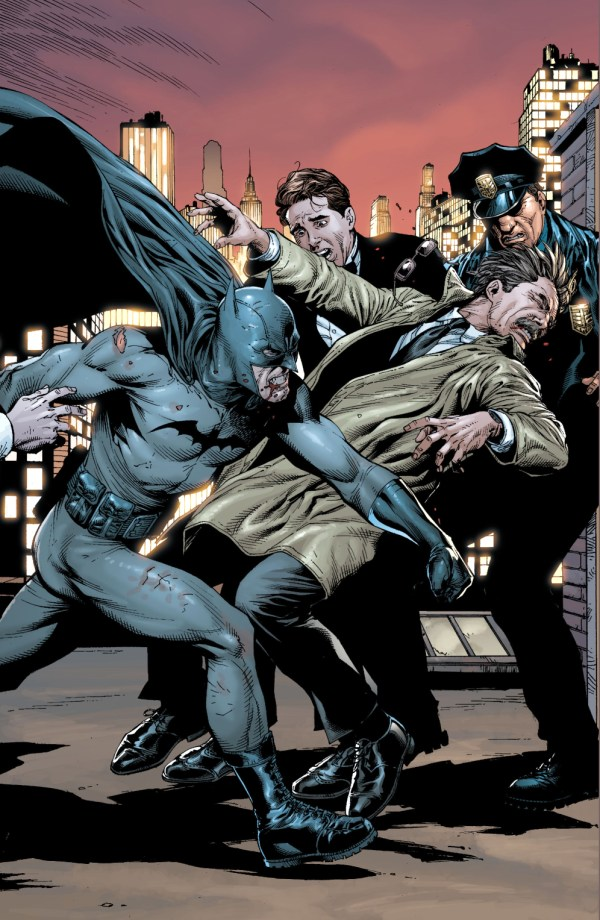 batman hits jim gordon (earth 1)