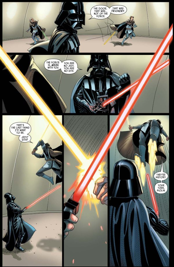 Darth Vader VS Aiolin And Morit