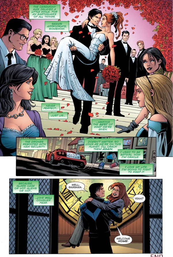 nightwing marries oracle