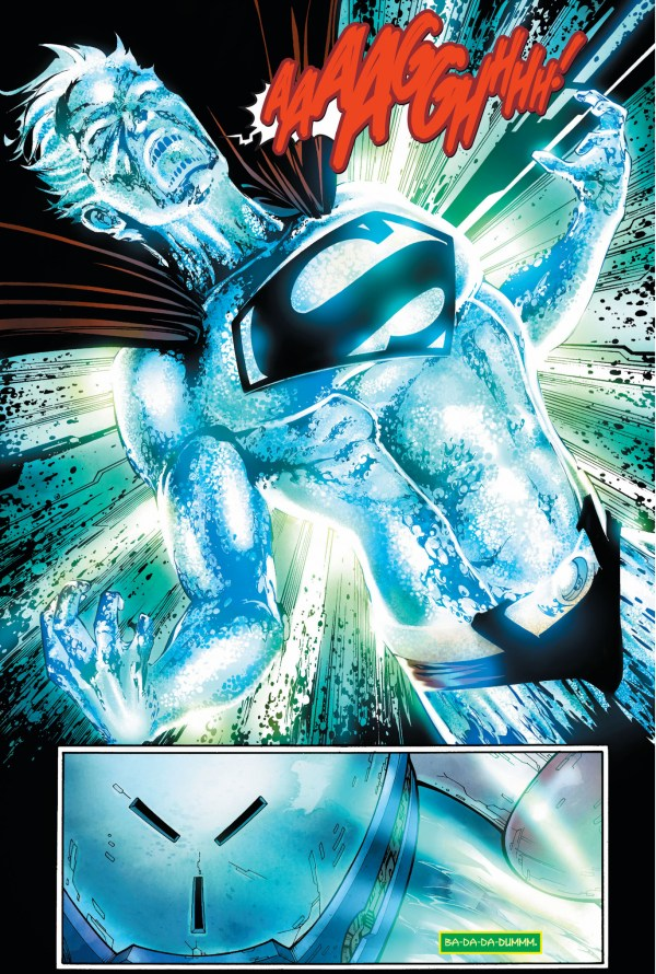 the weakness in superman's anti-parasite armor (earth 1)