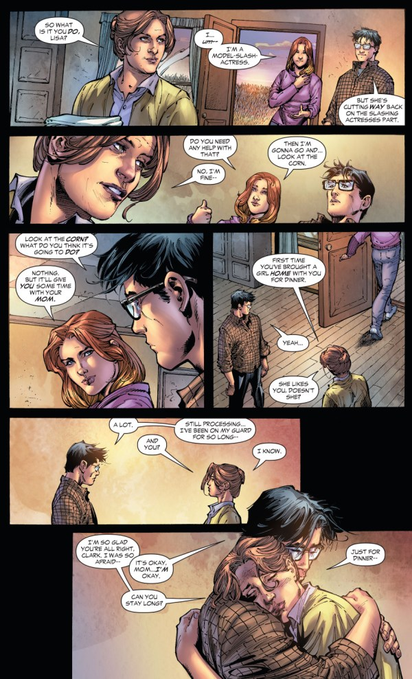 clark kent takes lisa lasalle home to smallville