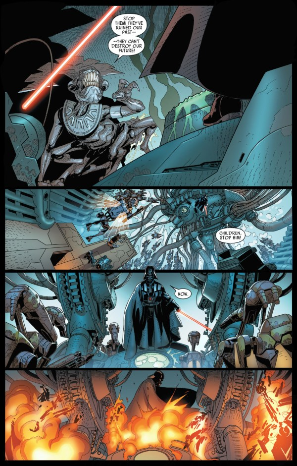 darth vader vs geonosian queen