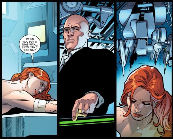 lex luthor heals barbara gordon's legs