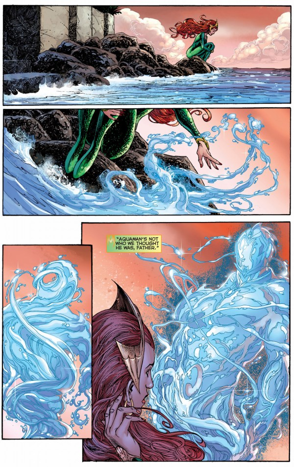 mera defends aquaman from her father