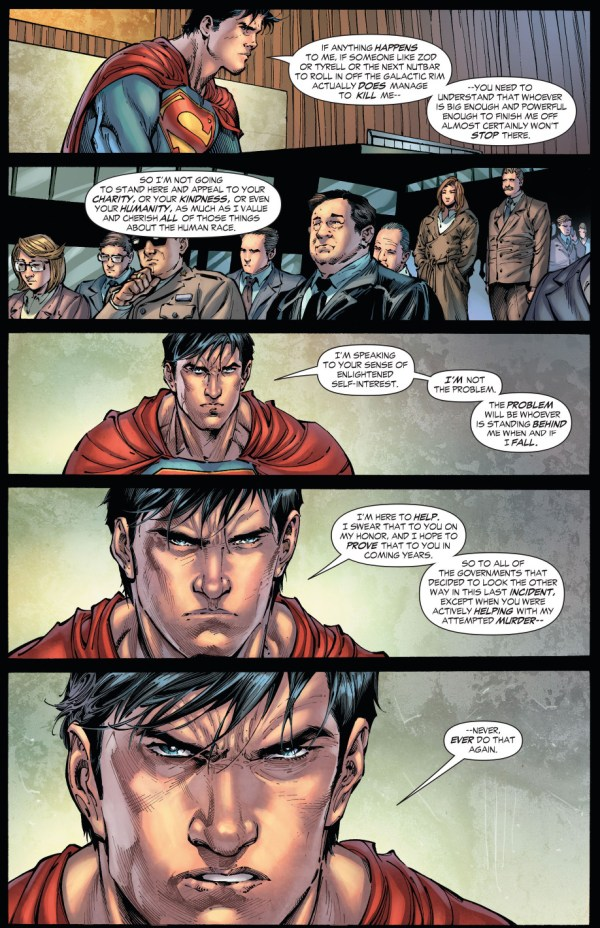 superman addresses the united nations (earth 1)