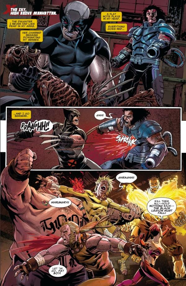 x-force and age of apocalypse x-men vs the black legion