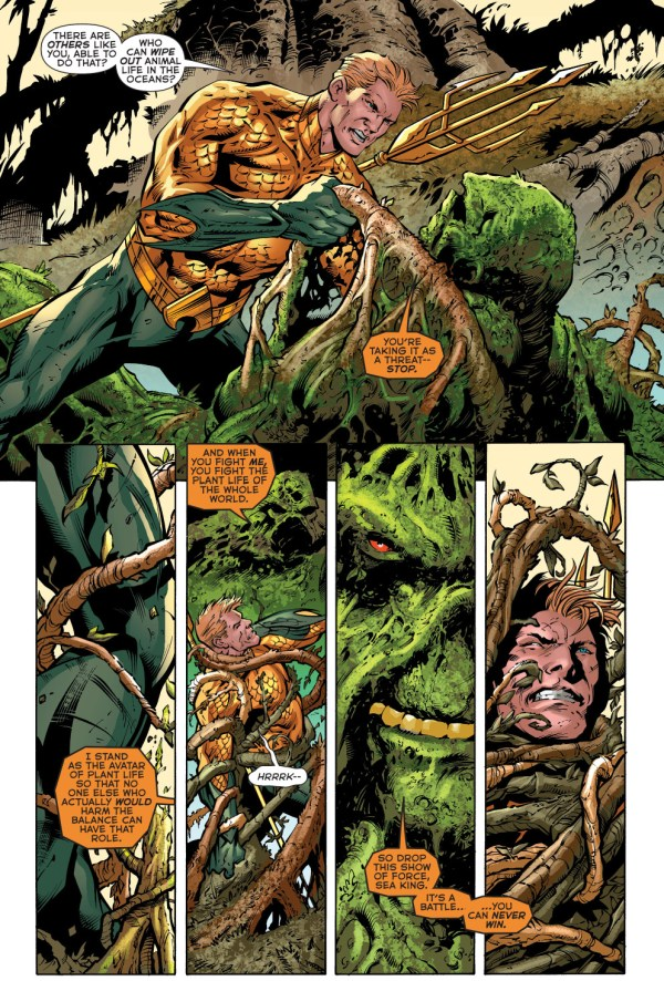 aquaman's first meeting with swamp thing (new 52)