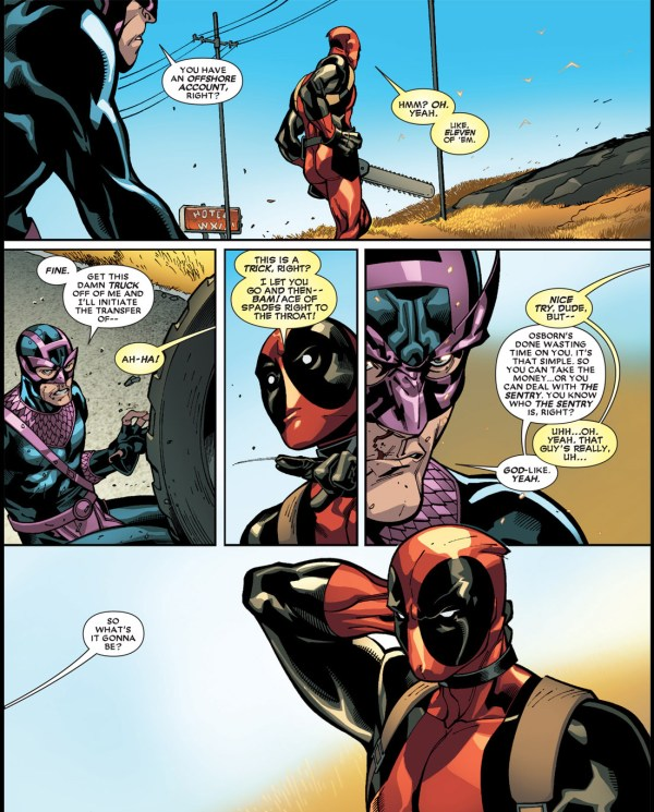 dark avengers hawkeye bribes deadpool