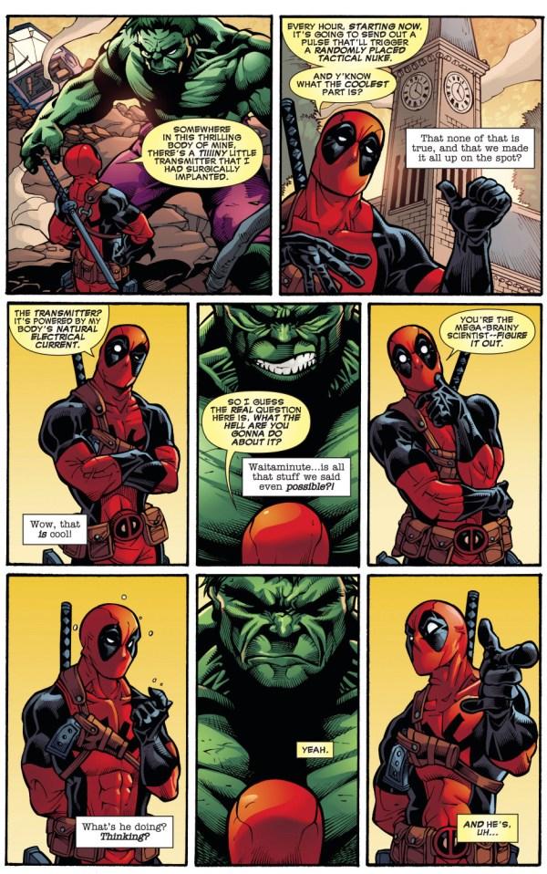 deadpool tries to get the hulk to kill him